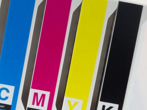 Spécial kit de 4 cartouches compatibles à solvant 440ml pour Mimaki SS21